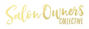 SAlon Owners Collective logo gold on white